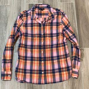 Gap Plaid Button Down Shirt Size Medium